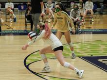 NCHSAA Girls Volleyball State Finals 4A on January 23, 2021 at G