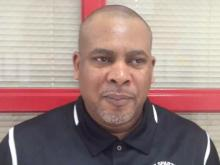 Southern Durham girls basketball head coach Teddy McKoy