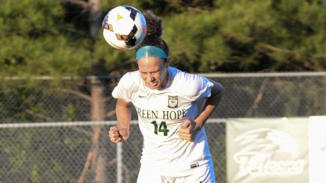 Green Hope girls soccer team dominated in the 3rd round of the NCHSAA 4-A soccer playoffs defeating Leesville Road 5-0 on Tuesday, May 16, 2017. (Photo By: Beth Jewell/HighSchoolOT.com)